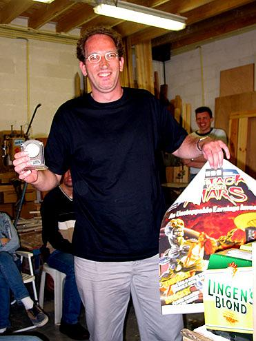 """De winnaar van de Pinball de Koog DPO Voorronde 2003: Norbert Broman!""