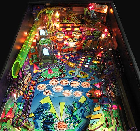 """The playfield in all its bright and flashing glory!""
